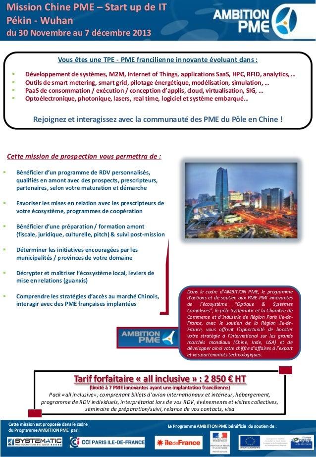Le Programme AMBITION PME bénéficie du soutien de :Cette mission est proposée dans le cadre du Programme AMBITION PME par ...