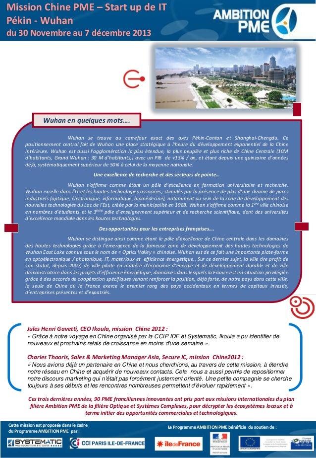 Programme mission accompagnement chine décembre 2013 Slide 3