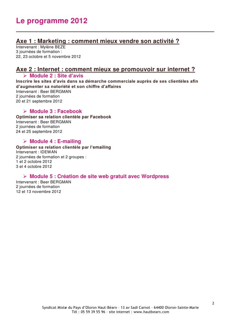 Programme PLFI 2012 Slide 2