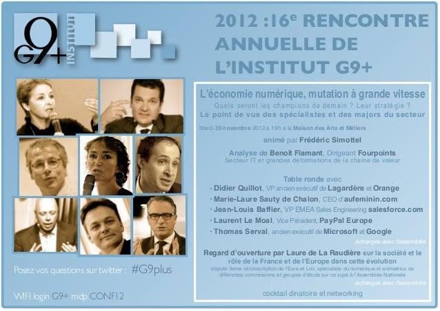 2012 :16e RENCONTRE                                                   ANNUELLE DE                                         ...