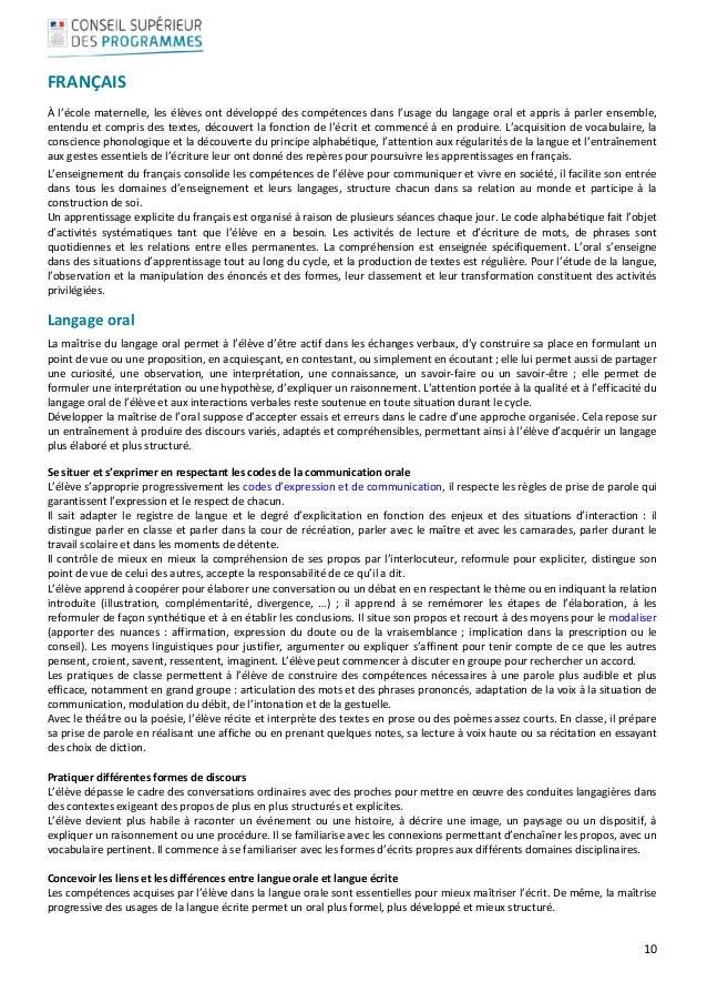 10  FRANÇAIS Àl'écolematernelle,lesélèvesontdéveloppédescompétencesdansl'usagedulangageoraletappris...