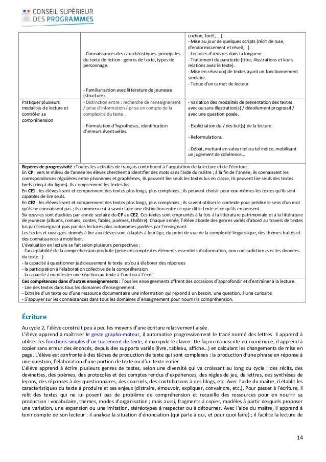 14     ‐Connaissancesdescaractéristiquesprincipales dutextedefiction:genresdetexte,typesde person...