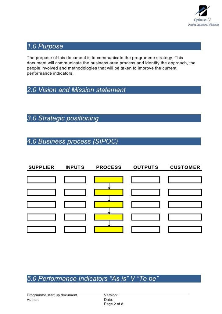Programme start up document - Optimised Programme Methodology  Slide 2