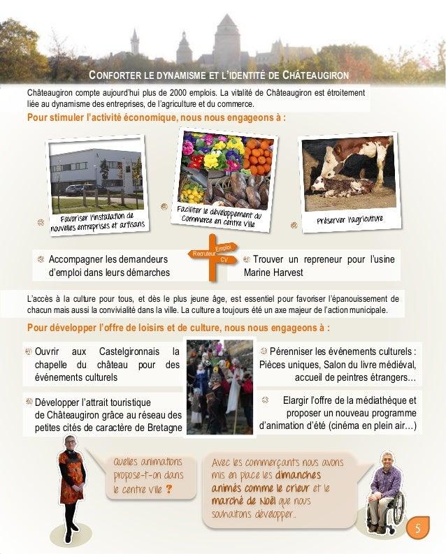 CONFORTER LE DYNAMISME ET L'IDENTITÉ DE CHÂTEAUGIRON Châteaugiron compte aujourd'hui plus de 2000 emplois. La vitalité de ...