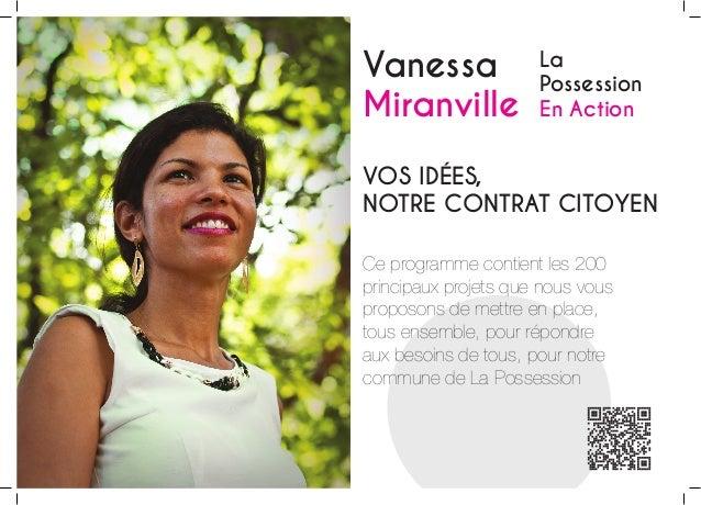 Vanessa Miranville  La Possession En Action  Vos idées, Notre contrat citoyen Ce programme contient les 200 principaux pro...