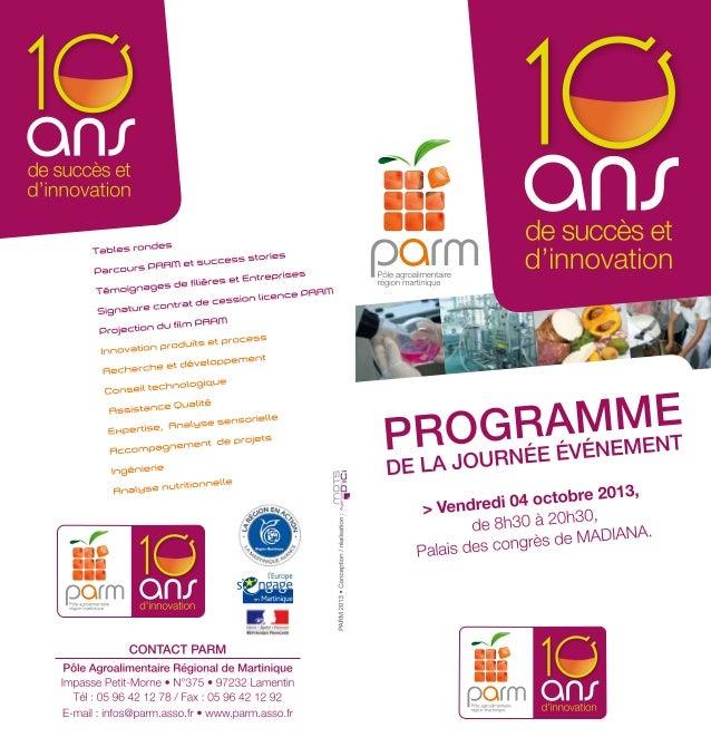 Le PARM: 10 ans d'innovation