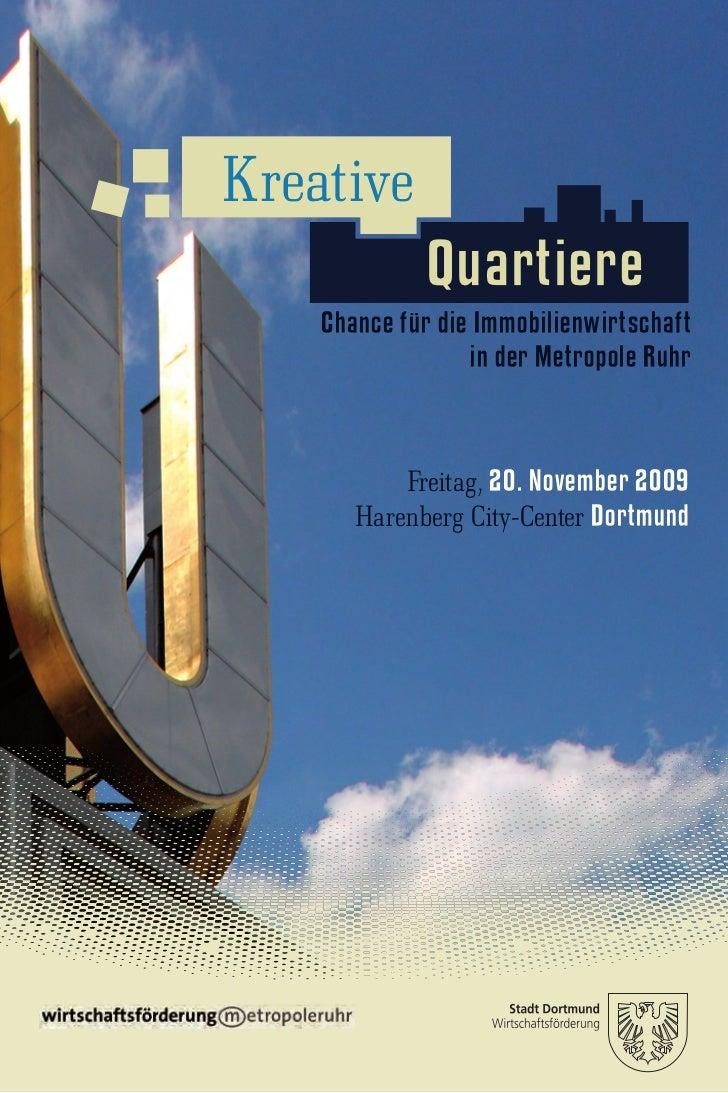 Kreative               Quartiere   ���Chance für die Immobilienwirtschaft                     in der Metropole Ruhr       ...