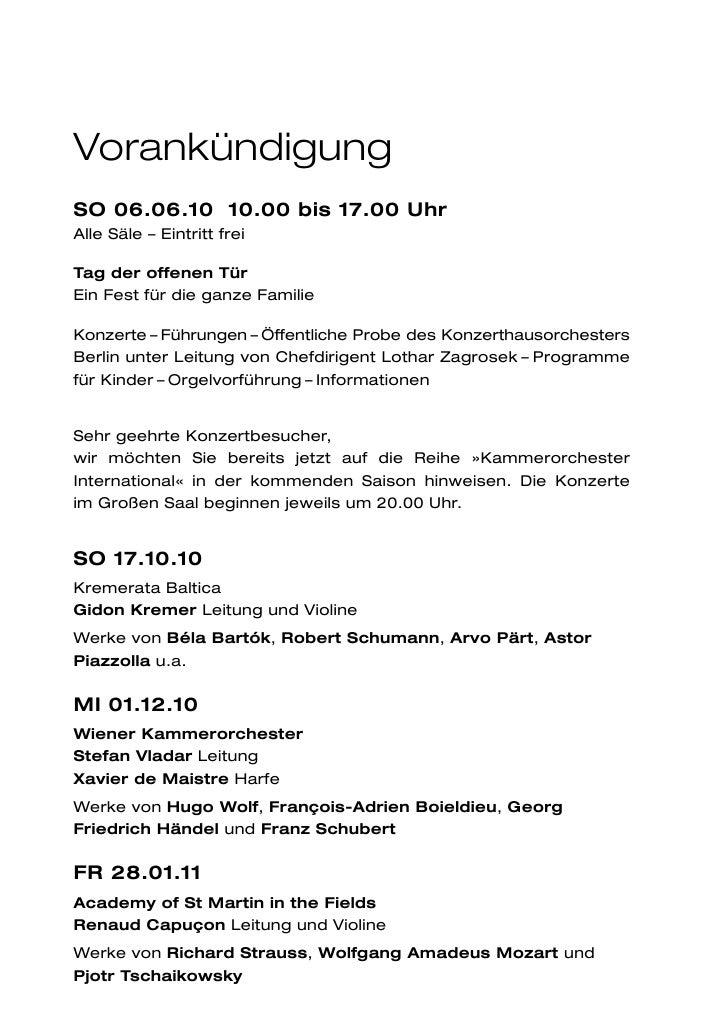 VorankündigungSO 06.06.10 10.00 bis 17.00 UhrAlle Säle – Eintritt freiTag der offenen TürEin Fest für die ganze FamilieKon...