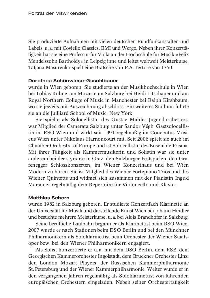 Porträt der MitwirkendenSie produzierte Aufnahmen mit vielen deutschen Rundfunkanstalten undLabels, u. a. mit Coviello Cla...