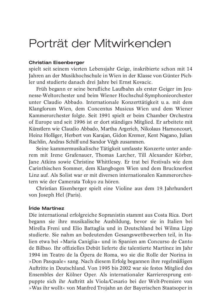 Porträt der MitwirkendenChristian Eisenbergerspielt seit seinem vierten Lebensjahr Geige, inskribierte schon mit 14Jahren ...