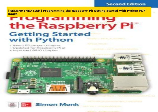 Recommendation Programming The Raspberry Pi Getting Started With P