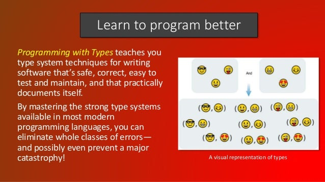 Learn to program better Programming with Types teaches you type system techniques for writing software that's safe, correc...