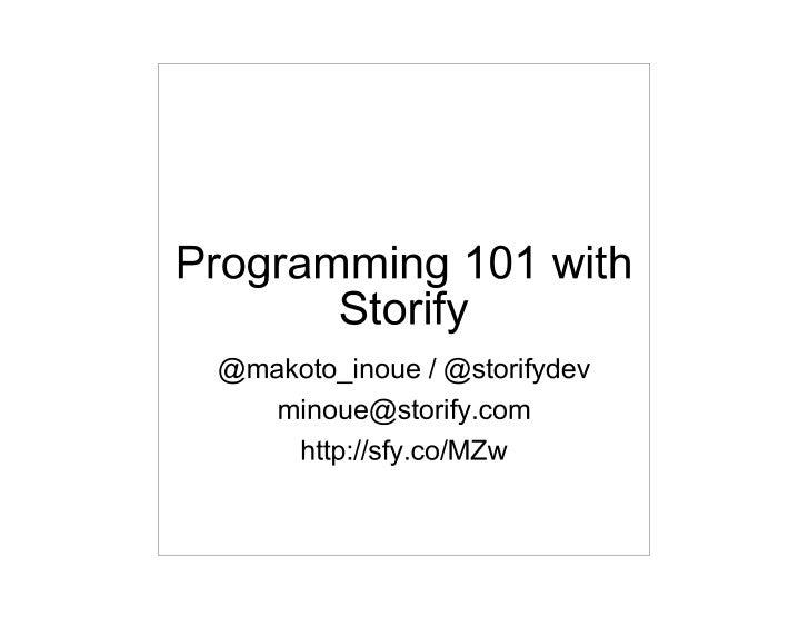 Programming 101 w_storify_api