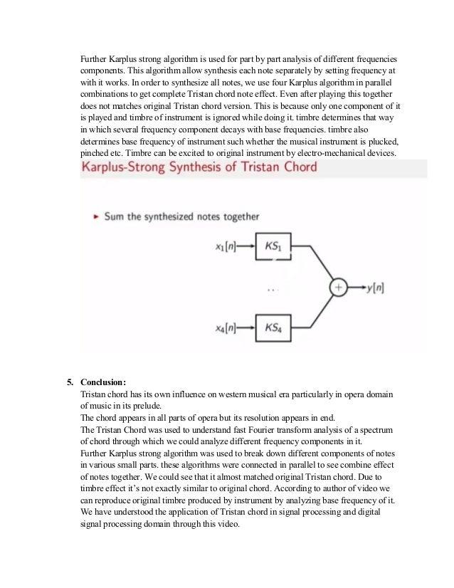 Fourier Analysis On Tristan Chord