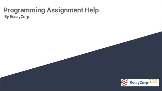 programming assignment help programming homework help programming assignment help by essaycorp