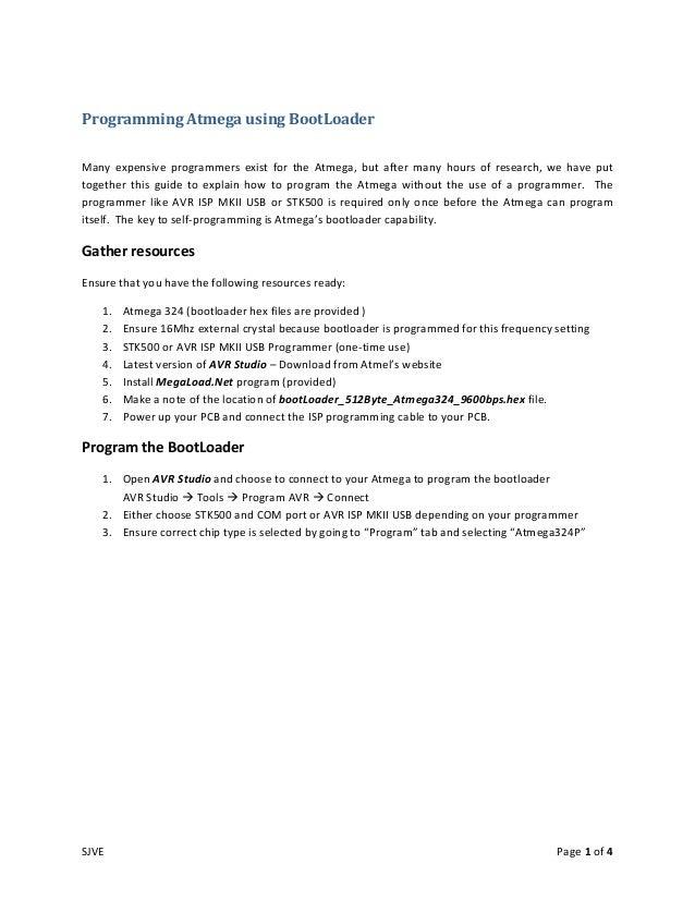 Programming atmega using boot loader