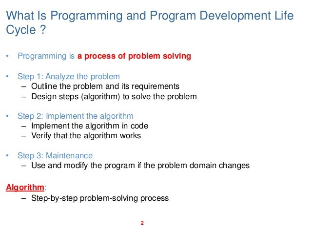 Basic Programming concepts - Programming with C++