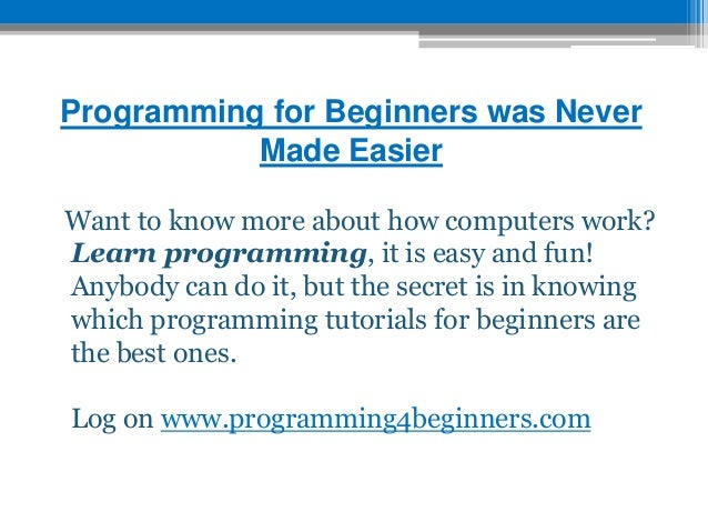 programming for beginners was never made easier