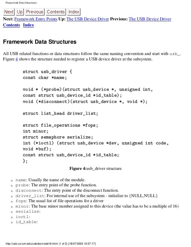 Programming guide for linux usb device drivers