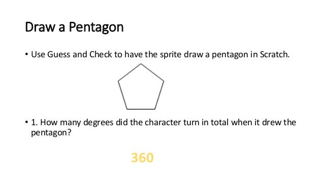 how to draw a pentagon on scratch