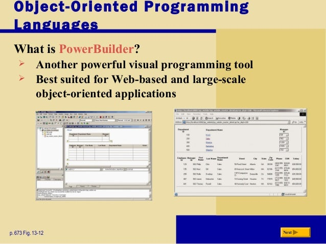 Applications 19 Object Oriented Programming Languages What Is Powerbuilder  Powerbuilder Programmer