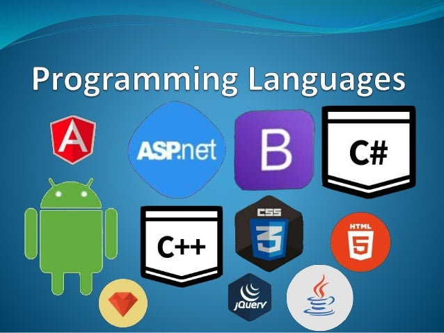 Programming languages are those language which are used to developed different types of software's which may system softwa...