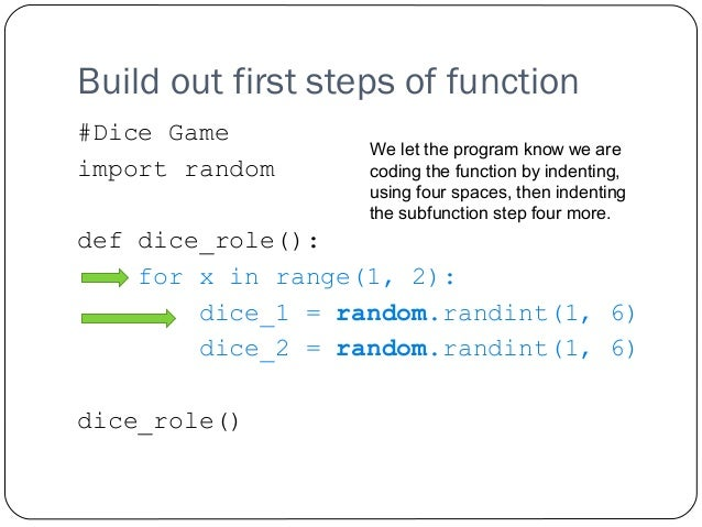 Programming simple games with a raspberry pi and