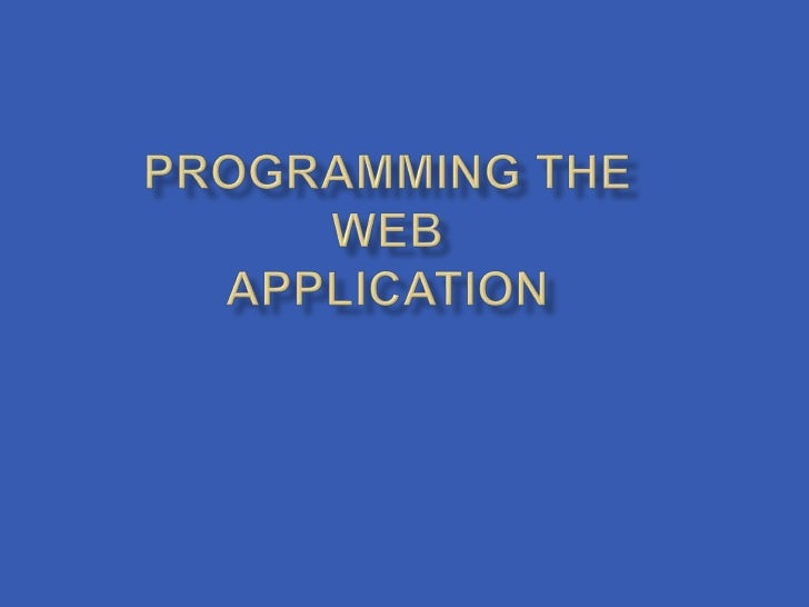     Page and Application Exception Handling    Programming the Web.config File Settings    Asynchronous Web Page Progra...