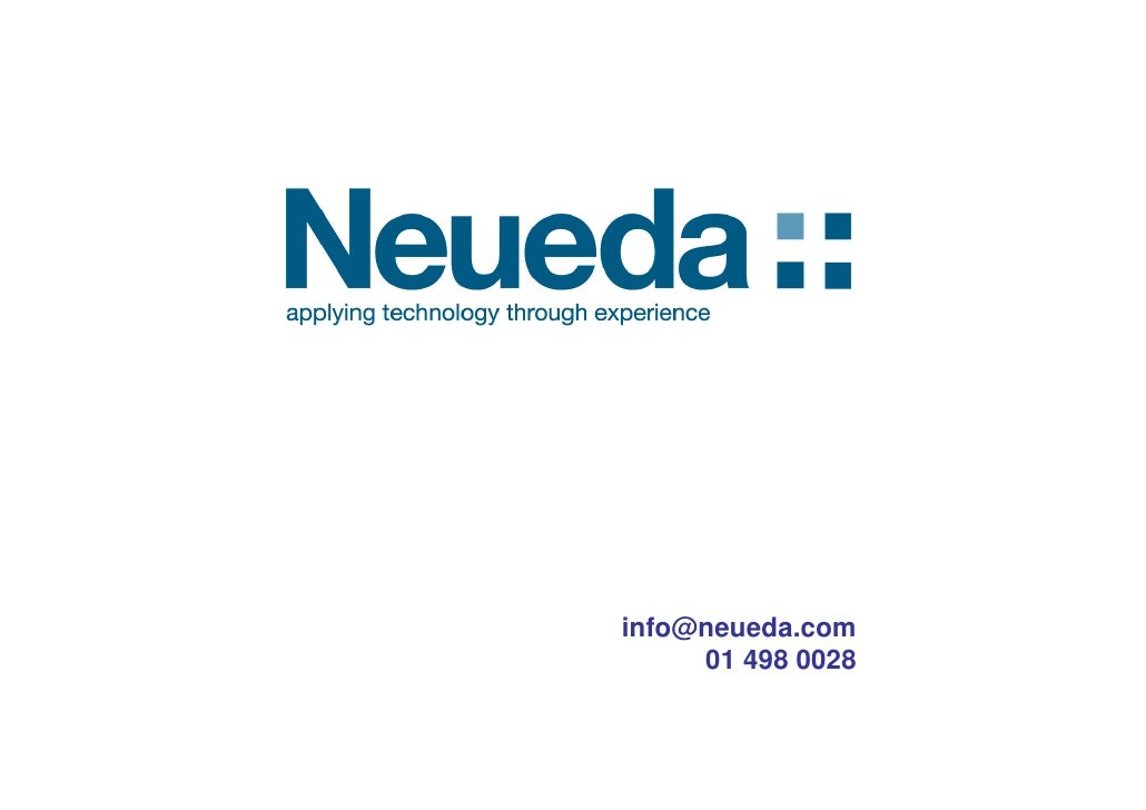 info@neueda.com      01 498 0028