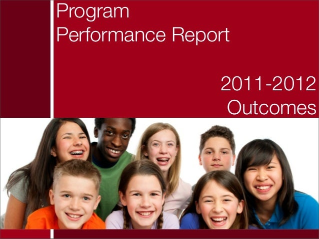 ProgramPerformance Report2011-2012Outcomes