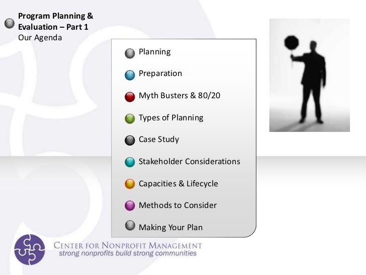 Non-Profit Program Planning and Evaluation Slide 3