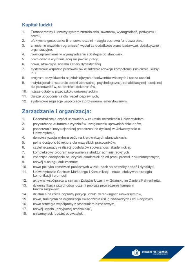 prof. dr hab. Piotr Stepnowski - program wyborczy Slide 2