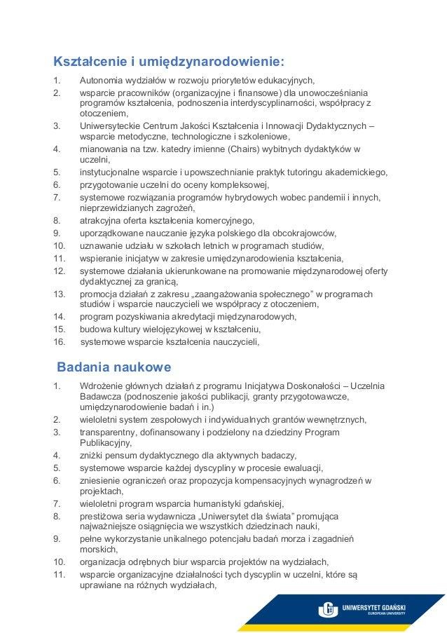 prof. dr hab. Piotr Stepnowski - program wyborczy Slide 3
