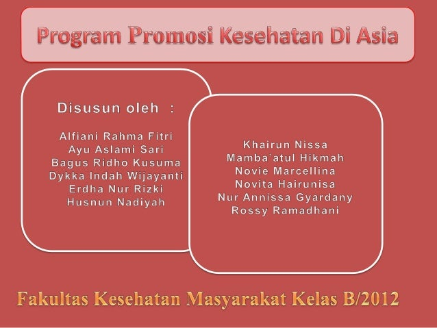 Program Promosi Kesehatan Di Asia