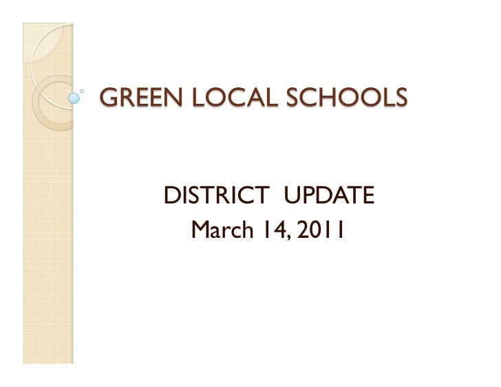 DISTRICT UPDATE  March 14, 2011