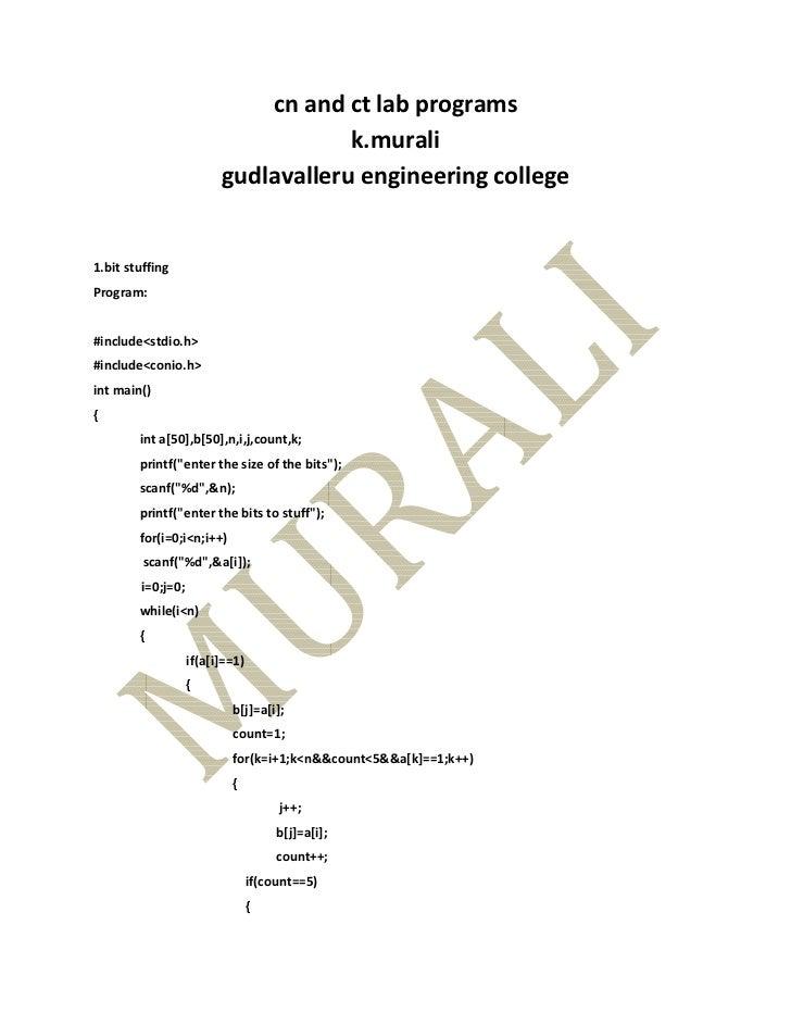 cn and ct lab programs                                     k.murali                         gudlavalleru engineering colle...