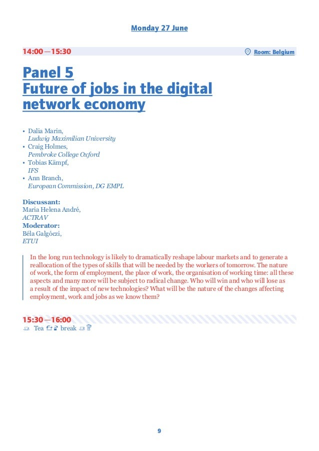 Shaping The New World Of Work The Impacts Of Digitalisation And Robo