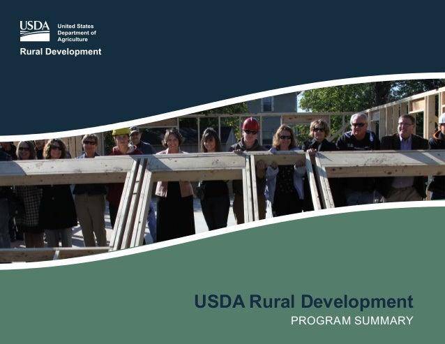 USDA Rural Development PROGRAM SUMMARY