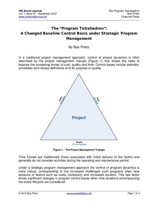 PM World Journal                                                                     The Program TetrahedronVol. I, Issue ...