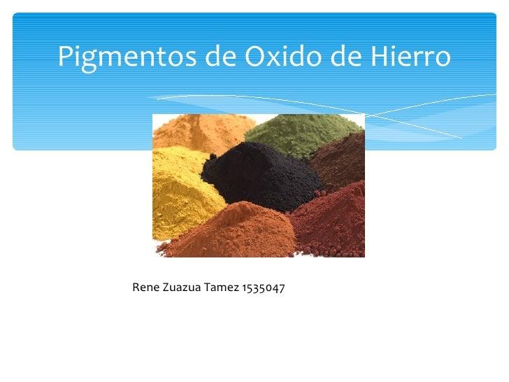 Pigmentos de Oxido de Hierro Rene Zuazua Tamez 1535047