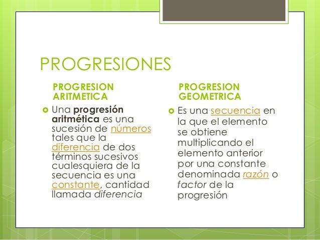 Progresiones Aritmeticas Y Geometricas