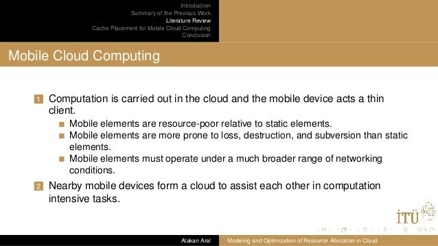 cloud precessing mobile thesis