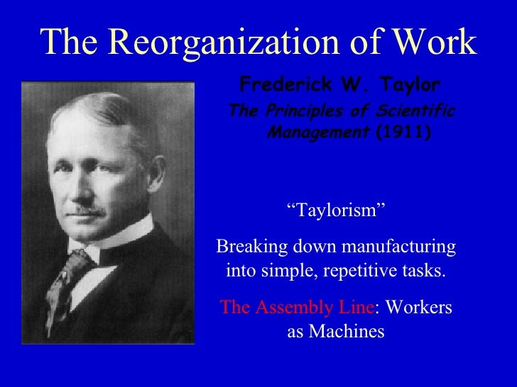 taylorism and hours of work Herzberg's theory herzberg was a psychologist whose experiences as a soldier in world war ii led him to study motivation where taylor believed that workers were primarily motivated by money, herzberg's theory was that there are many factors, such as work hours and conditions, that motivate workers other than money.