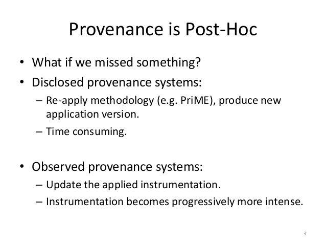 Progressive Provenance Capture Through Re-computation Slide 3