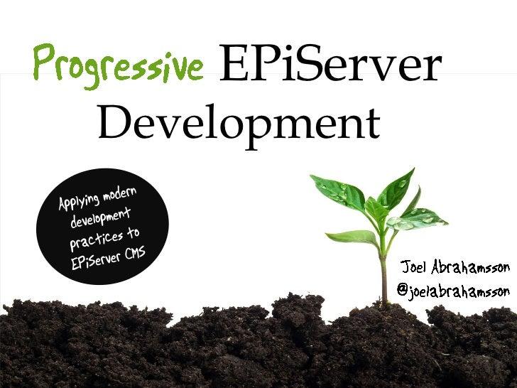 EPiServerDevelopment