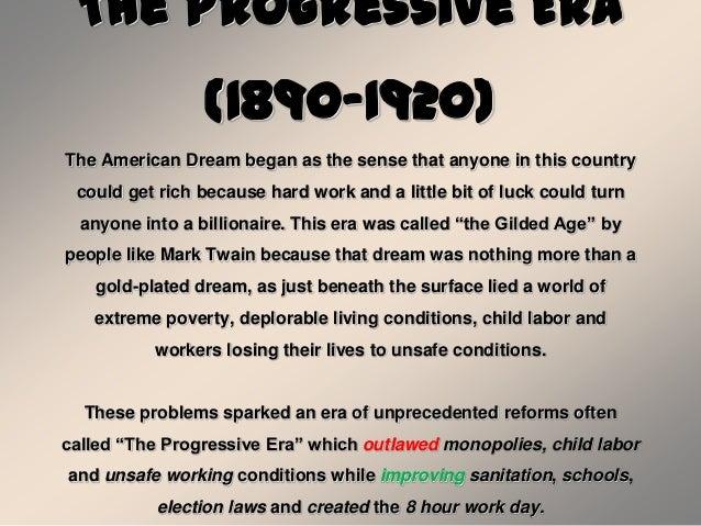 Progressive era summary
