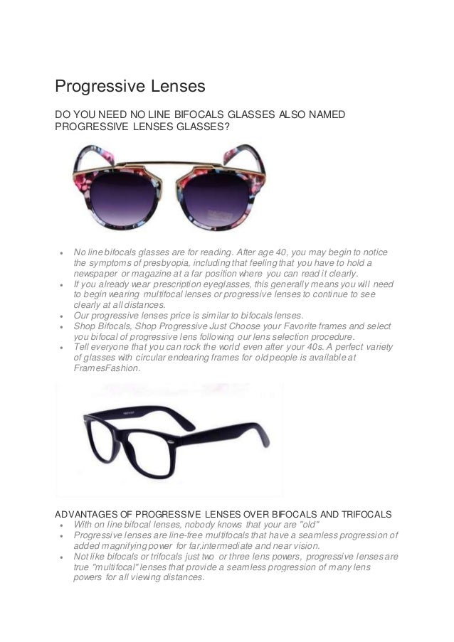 2393b93b83 Progressive Lenses DO YOU NEED NO LINE BIFOCALS GLASSES ALSO NAMED PROGRESSIVE  LENSES GLASSES