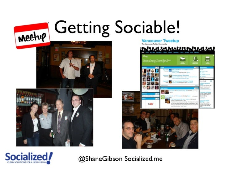 Getting Sociable!   @ShaneGibson Socialized.me
