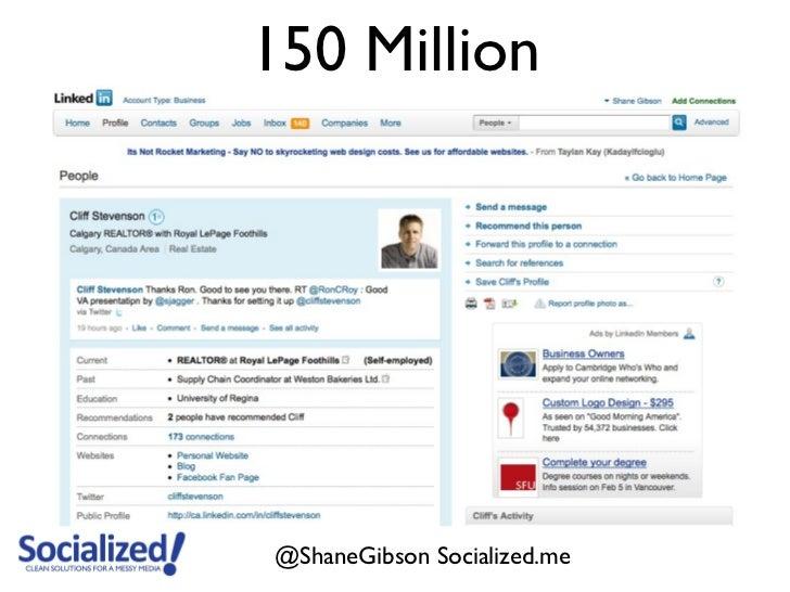 150 Million@ShaneGibson Socialized.me