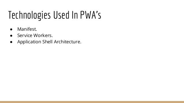 Service Workers Technically, service workers provide a scriptable network proxy in the web browser to manage the web/HTTP ...